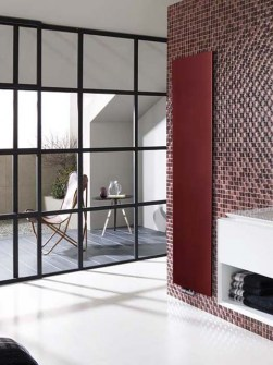 Flat radiators, vertical radiators, heating radiators, claret radiators