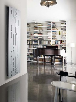 modern radiators, aluminium radiators, designer radiators, silver radiators