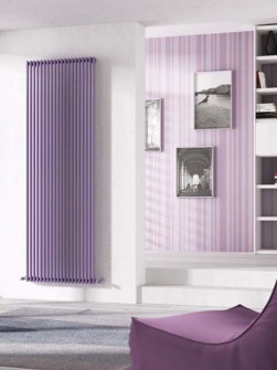 vetical radiators, design radiators, coloured radiators
