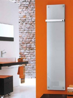 glass radiator, glass vertical radiator, glass bathroom radiator, glass designer radiator