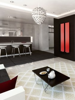 central heating radiator, modern radiator, living room radiators