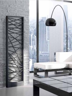 coloured radiators, room divider radiators, design radiators, anthracite radiators