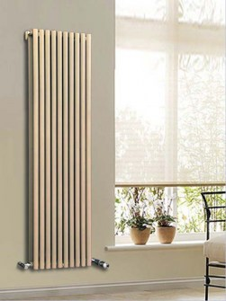 vertical radiators, coloured radiators, fancy radiators, beige radiators, tubular radiators
