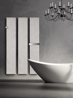 stone towel radiators, stylish bathroom radiators, beautiful radiators, infrared heaters