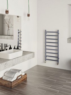 bathroom radiators, ladder radiators, radiators, blue radiators, electric radiators