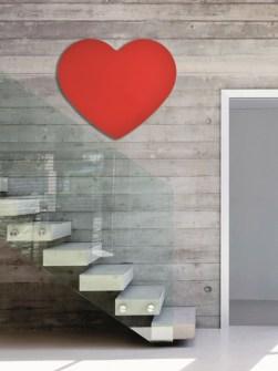 radiatore elettrico, radiatore unico, radiatori cuore rosso, radiatore moderno