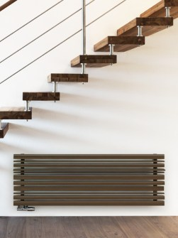 horizontal radiators, modern radiators, home radiators, brown radiators,