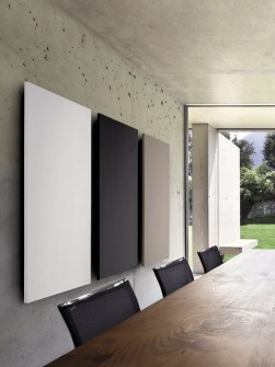 smooth stone radiators, coloured radiators, flat radiators, vertical radiators,