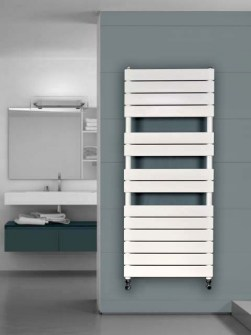 coloured bathroom radiators, coloured towel warmer, heated towel rail,