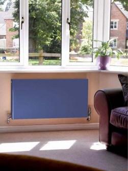 radiadores de baixa temperatura, radiadores de painel, radiadores azuis