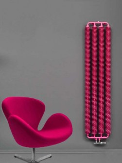 retroradiatoren, industrail-stijlradiatoren, roze radiatoren, rode radiator
