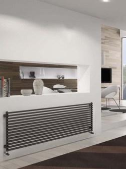 Naujų radiatoriai, horizontalios radiatoriai, šildymo radiatoriai