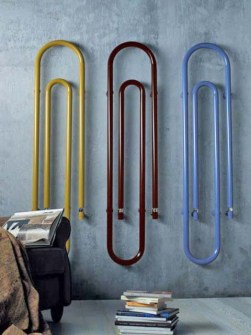 gekleurde radiator, unieke radiator, ongebruikelijke radiator, moderne radiator, paperclipradiatoren
