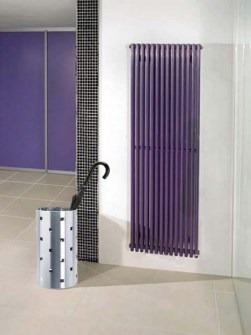 radiateur tubulaire, radiateurs violets, radiateurs doubles, radiateurs verticaux