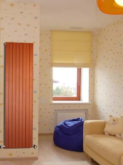 Вертикальний радіатор, трубчастий радіатор, бюджетний радіатор, радіатори, оранжевий радіатор