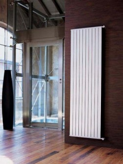 aluminium radiators, design radiator, coloured radiator, vertical radiator