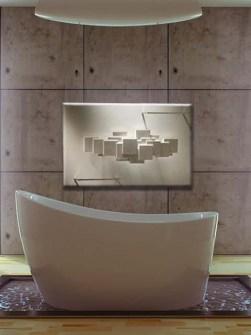 radiador exclusivo do banheiro, radiador de pedra, radiadores de toalha da cor do osso, radiador do projeto