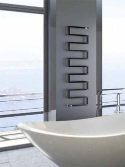 radiateur serpent, radiateurs uniques, radiateurs de salle de bains, radiateurs sèche-serviettes anthracite