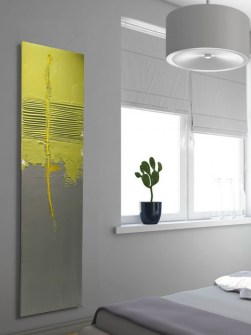 design radiator, stone radiator, exclusive radiator, yellow radiators