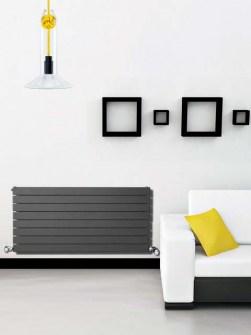 grijze radiatoren, horizontale radiatoren, thuisradiatoren
