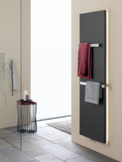 Flat bathroom radiators, vertical bathroom radiators, radiator with LED, anthracite towel radiators