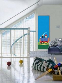 radiateurs de chambre d'enfant, radiateur de chambre d'enfants, radiateur avec l'image,