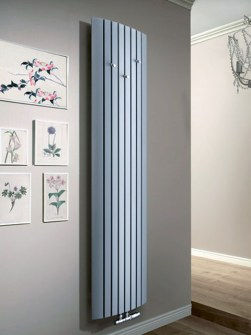 hallway radiators, entrance radiators, grey radiators, tall radiators
