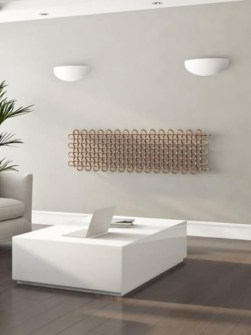 horizontal radiators, central heating radiator, design radiator, living room radiators