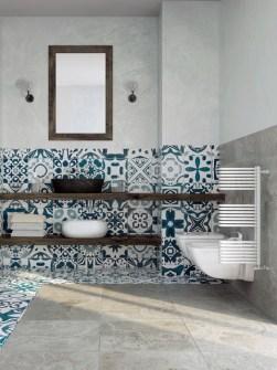 Pokój dzielnik łazienka, grzejniki, grzejniki kolorowe