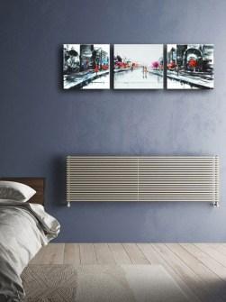 radiadores de aquecimento central, radiadores horizontais, radiador sob a janela,