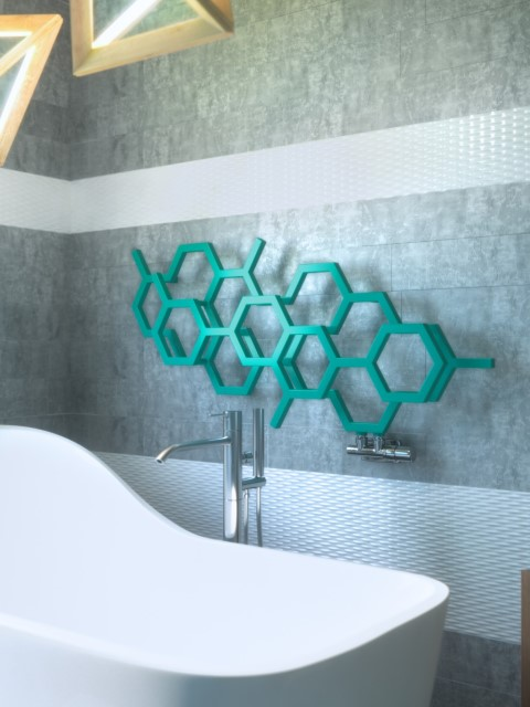 trendy radiators, bathroom radiators, horizontal towel radiators, beautiful radiator