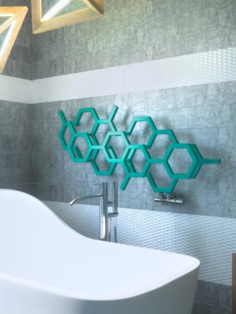Radiatore six h modern radiatori da bagno radiatori di - Radiatori bagno orizzontali ...
