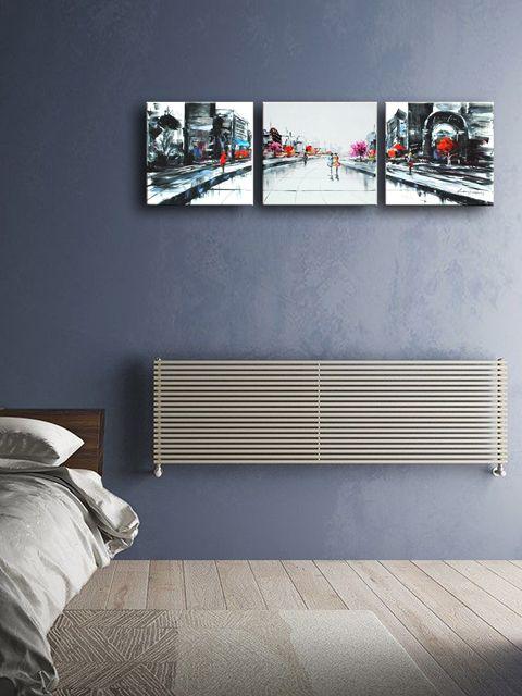 centrinio šildymo radiatoriai, horizontalūs radiatoriai, radiatorius po langu,